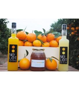 Pack Degustación ( Naranjas + Mandarinas + 1kg Miel + 1 Licor)