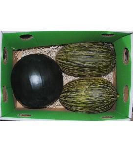 Melones y sandías de primerísima calidad (caja 12-14 kg)